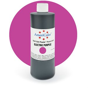 Electric Purple Gel Paste 13.5  ounces By Americolor