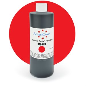 Red Red Gel Paste 13.5  ounces By Americolor