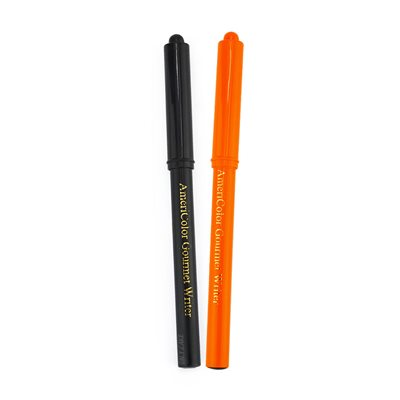 Orange & Black Halloween Gourmet Writer Edible Food Pens By Americolor
