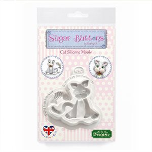 Cat Sugar Buttons Silicone Mold By Katy Sue