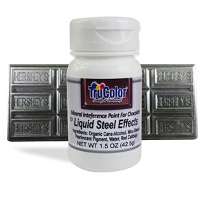 Steel Liquid Effects Natural Food Color By TruColor 1.5 Ounce