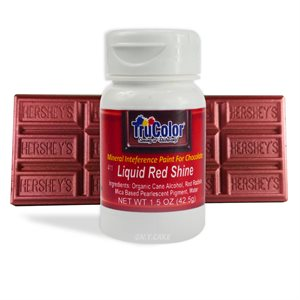 Red Liquid Shine Natural Food Color By TruColor 1.5 Ounce