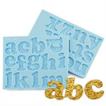 Romantic Swirl Lowercase Alphabet Letters Silicone Mold