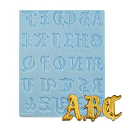Old english alphabet letters silicone mold altavistaventures