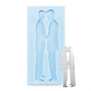 2 Grooms Silicone Mold
