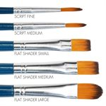 Round & Flat Brush Set of 5