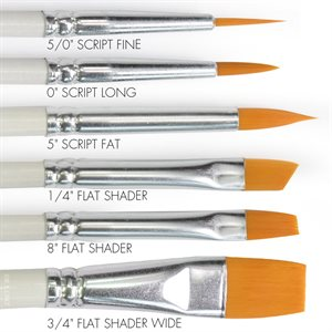 Round & Flat Brush Set of 6