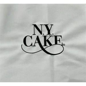 White Apron with NY Cake Emb. Logo