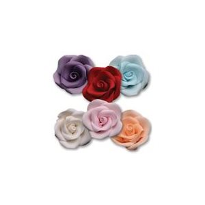 Large Roses Sugar Flowers Assorted Colors