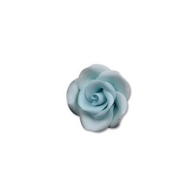 Blue Medium Roses Sugar Flowers