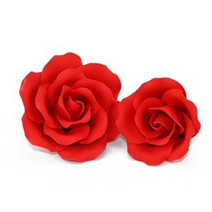 Grand Rose Red Sugar Flowers