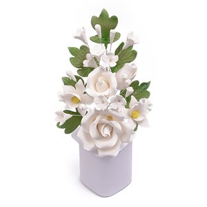 White Rose Spray Sugar Flowers