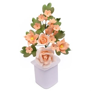 Peach Rose Spray Sugar Flowers