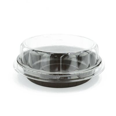 Round Paper Baking Cup w /  Dome Cover 10 Pcs