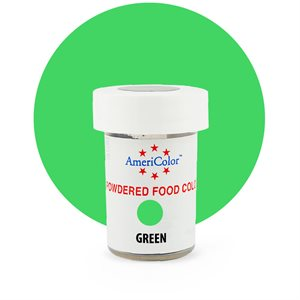 Green Powdered Food Color 3 grams By Americolor