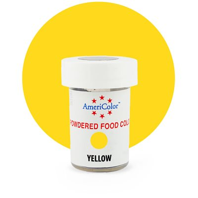 Yellow Powdered Food Color 3 grams By Americolor