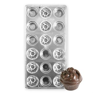 3D Cupcake Polycarbonate Chocolate Mold