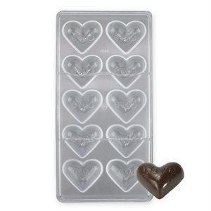 Love Heart Polycarbonate Chocolate Mold