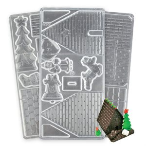 Gingerbread House Polycarbonate Chocolate Mold