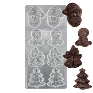 Christmas Assortment 2 Polycarbonate Chocolate Mold