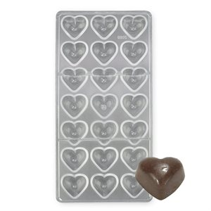 Pillow Heart Polycarbonate Chocolate Mold