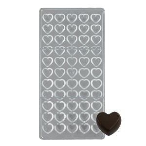 Mini Hearts Polycarbonate Chocolate Mold