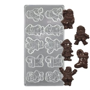 Jolly Santa Polycarbonate Chocolate Mold