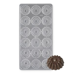 Daisy Polycarbonate Chocolate Mold