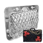 3D Quilted Designer Purse Handbag Polycarbonate Chocolate Mold