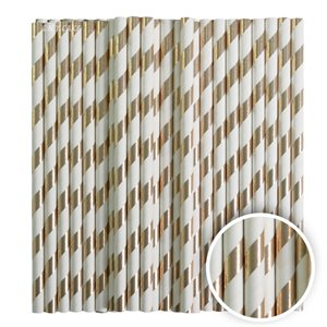 Metallic Gold Stripe Cake Pop Sticks- 6 Inch -Pack of 25