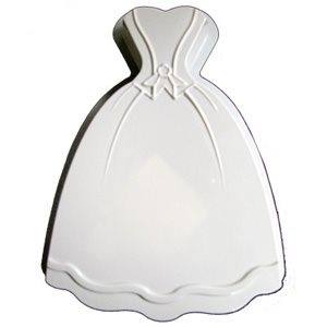 Princess Dress Plastic Cake Pan  11 3 / 4 X 9 Inch
