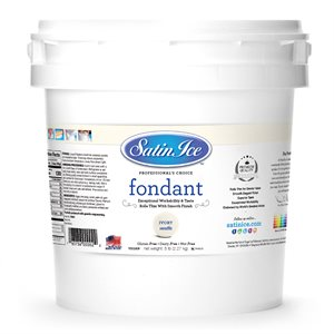 Satin Ice Rolled Fondant Icing Ivory 20 Pounds