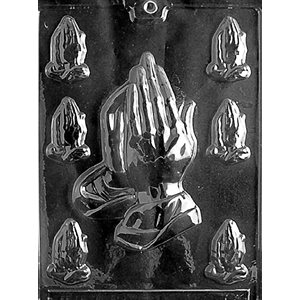 Assorted Praying Hands Chocolate Candy Mold