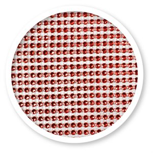 Red Rhinestone Cake Bling 10 Yards