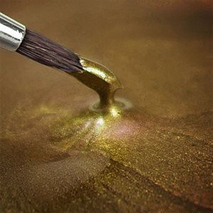 Metallic Gold Edible Food Paint By Rainbow Dust