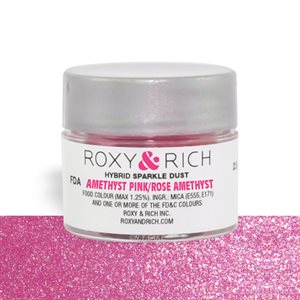 Amethyst Pink Edible Hybrid Sparkle Dust By Roxy Rich 2.5 gram
