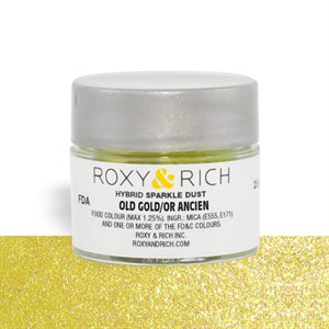 Old Gold Edible Hybrid Sparkle Dust By Roxy Rich 2.5 gram