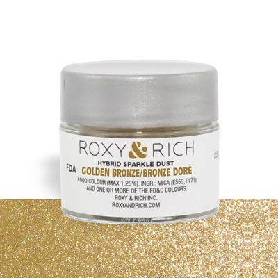 Golden Bronze Edible Hybrid Sparkle Dust By Roxy Rich 2.5 gram