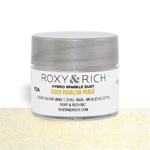 Gold Pearl Edible Hybrid Sparkle Dust By Roxy Rich 2.5 gram