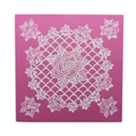 Ring of Roses Half Cake Lace Mat By Claire Bowman