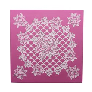 Rosie Cupcake 3D Topper Cake Lace Mat By Claire Bowman
