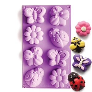 Bee,Butterfly and Daisy Silicone Novelty Bakeware
