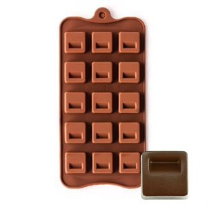 Indented Square Silicone Chocolate Mold