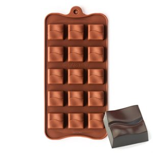 Grooved Square Silicone Chocolate Mold