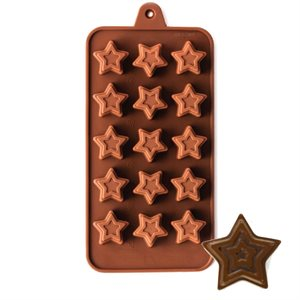 Jeweled Star Silicone Chocolate Mold