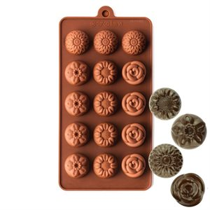 Narcissus,Sunflower and Rose  Silicone Chocolate Mold