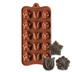 Petunia, Tulip and Fantasy Flower Silicone Chocolate Mold