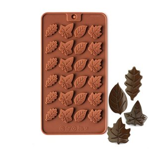 Leaf Medallions Silicone Chocolate Mold