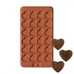 Heart Medallions Silicone Chocolate Mold