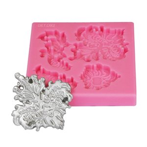 Floral Applique Lace Border Mold